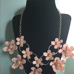 Jewelry - Anna and Ava pink blush flower woman necklace